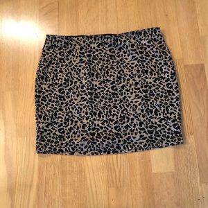 3 for $10 — Leopard mini skirt